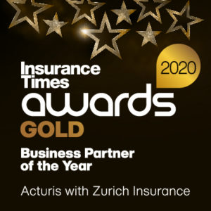 Acturis with Zurich Business Partner of the Year 2020